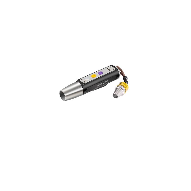 Three light source identification flashlight